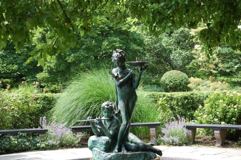secret garden statue at cp
