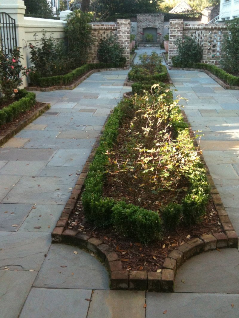 bisected stone path
